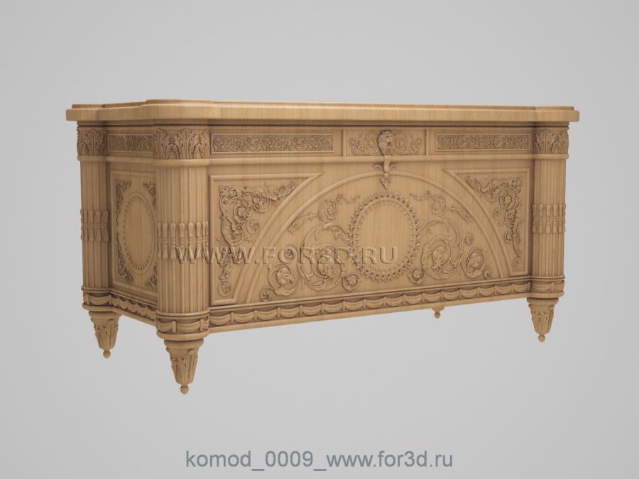 Chest of drawers 0009 3d stl модель для ЧПУ