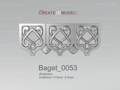 Baget 0053 | stl - 3d model for NC machine