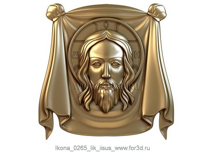 Icon 0265 The face of Jesus | stl - 3d model