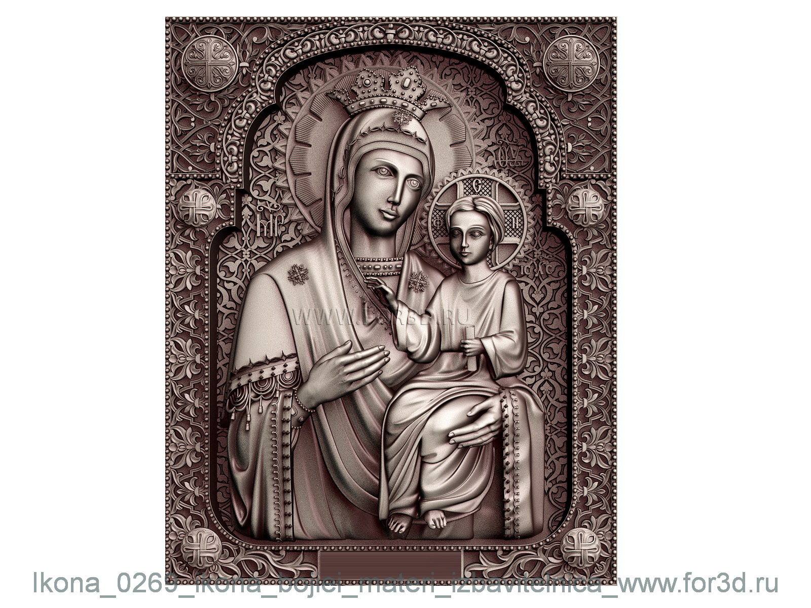 Icon 0269 of Our Lady deliverer | stl - 3d model stl model for CNC