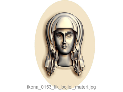 The icon of the Mother of God Face 0153