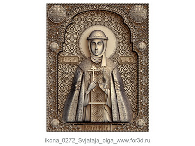 Icon of Saint Olga 0272 | stl - 3d model