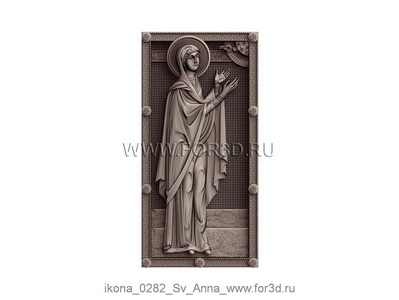 Icon of Saint Anne 0282 | stl - 3d model
