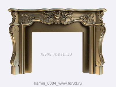 Fireplace 0004 | 3d stl model for CNC