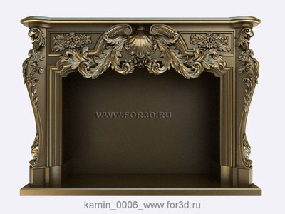 Fireplace 0006 | 3d stl model for CNC