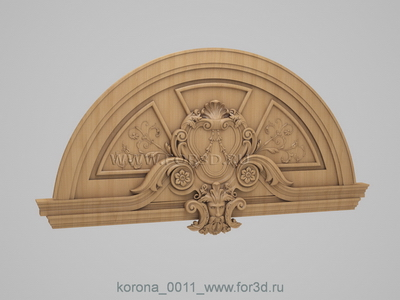 Crown 0011 | 3d stl model for CNC