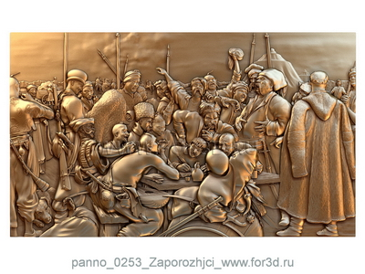 Panno 0253 Cossacks | 3d stl model for CNC