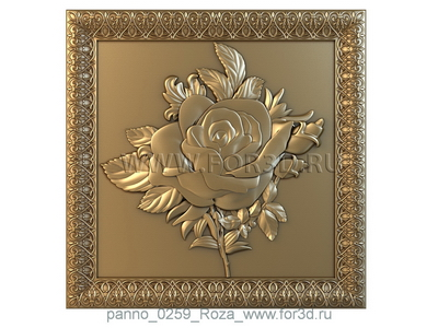 Panno 0259 Rose | 3d stl model for CNC