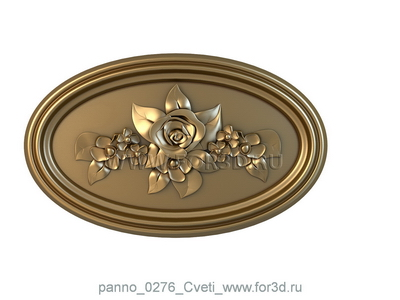 Panno 0276 Flowers | 3d stl model for CNC