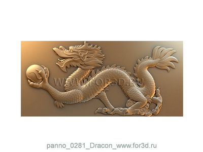 Panno 0281 Dragon | 3d stl model for CNC