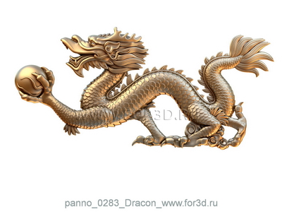 Panno 0283 Dragon | 3d stl model for CNC