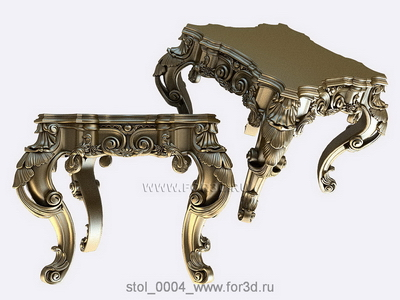 Table 0004 | 3d stl model for CNC