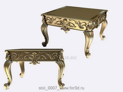 Table 0007 | 3d stl model for CNC