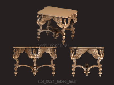 Table 0021 | 3d stl model for CNC