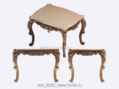 Table 0022 | 3d stl model for CNC